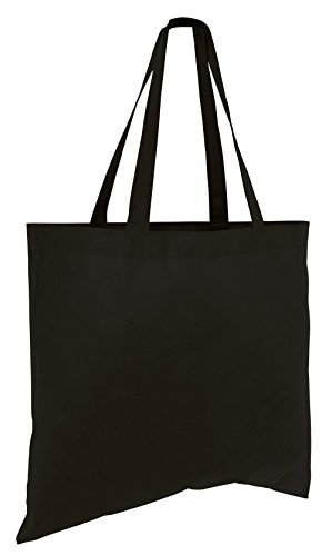 (50 Pack) Set of 50 Cheap Budget Promotional Large Tote Bags (Black)