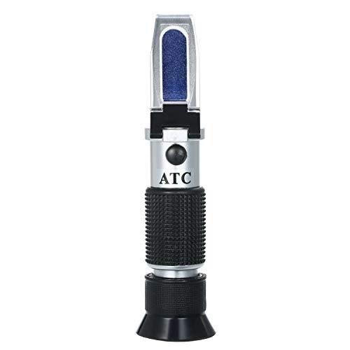 KKmoon Salinity Refractometer, Handheld Seawater Hydrometers, Optical Salinity Tester, Portable ATC Refractometer, Dual Scale Saltwater Tester for Aquarium, Seawater, Pool, Fish Tank