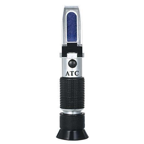 Pet Dog & Cat Refractometer Handheld Pet Urine Specific Gravity (1.000~1.050) Clinical Refractometer with ATC, Serum or Plasma Protein Tester (0~12g) for Measuring Health Index of Veterinary