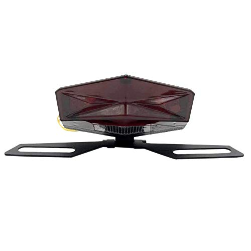 Sonline Motorcycle Motorbike ATV Quad LED License Plate Rear Tail Stop Brake Indicator Light Lamp Red