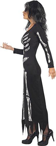 Smiffys Costume Scheletro, Nero, comprende Abito a Tubo Maniche Lunghe