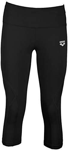Arena W Gym Tights, Leggings Sportivi 3/4 Donna, Nero (Black), S