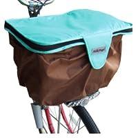 ハローエンジェル 自転車用 2段式 かごカバー 前用 (ベビーブルー) 前カゴ カバー