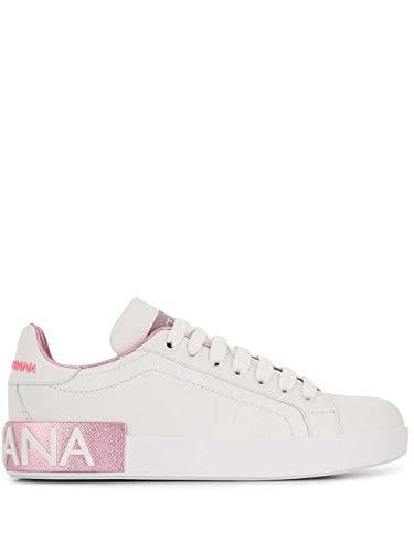 Moda Dolce E Gabbana Mujer CK1544AX61587587 Blanco Cuero Zapatillas | Temporada Permanente