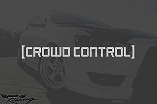 Seek Racing Crowd Control Decal Mustang Crash JDM Funny Low Illest CAR Truck Window Bumper Sticker