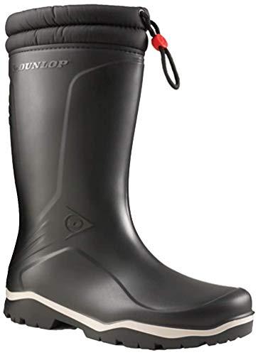 Dunlop Boots Thermostiefel Blizzard Wintergummistiefel für Damen und Herren (44 EU, schwarz)