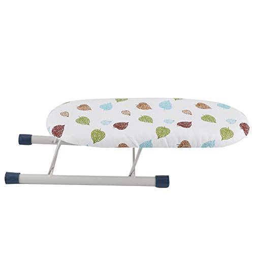 Growcolor Home Travel Sleeve Cuffs Collars Handling Table Foldable Space-Saving Mini Ironing Board(Leaves)