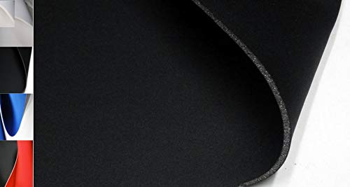 StoffBook SCHWARZ/SCHWARZ NEOPREN-IMITAT STOFF 5MM STRETCH DOUBLEFACE STOFFE, C207
