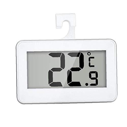 Nicetruc Termómetro del refrigerador Digital Resistente al Agua de Temperatura inalámbrico Refrigerador Congelador a Partir -20 a 60 Grados Grande del LCD Display