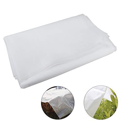 Skyoo Housse de Protection en Tissu Non tissé pour Plantes et Plantes en extérieur Protection Contre Le Gel et Le Froid en Hiver, 20 g, 16,5 x 10 m, Blanc