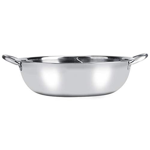 Olla Caliente, Olla Caliente portátil de Dos sabores, para Cocina de inducción Cocina Olla Caliente Restaurante Familia(30cm)