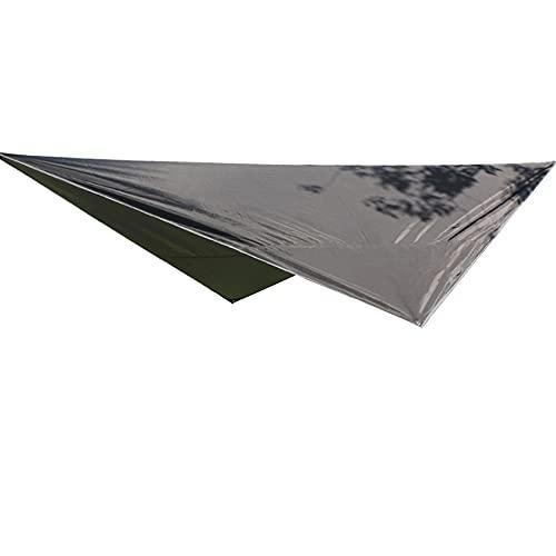 KUYH Tarpa De Campamento Impermeable, Toldo Al Aire Libre Portátil Multifuncional, Resistencia Al Desgarro De La Tela De Oxford 210T, Adecuado para Acampar Viajes Al Aire Libre (3.2 * 2.5M),Negro
