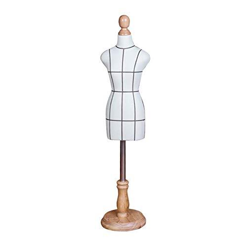 ZWRYW Maniquí Femenino Maniquíes De Costura Maniqui Dibujo Enseñando Tridimensional Inodoro Base Redonda Estándar Mini Estudiante Monitor Diseño De Moda (Size : Bust 42cm (1/2))