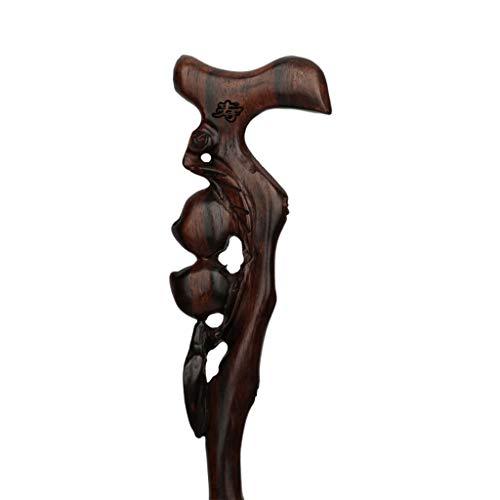 LWXTY wandelstok, moderne stijl natuurlijk hout oude mensen stok, ergonomisch ontwerp lichtgewicht draagbare antislip slijtvast, helpt om evenwicht te handhaven