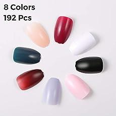 24Pcs 12 Different Sizes Milky Coffin Ballerina False Nails