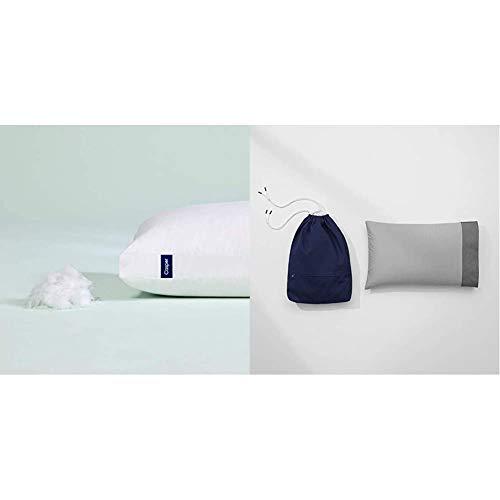Casper Sleep Pillow for Sleeping, Standard, White & Sleep Casper Nap Pillow, Small, White