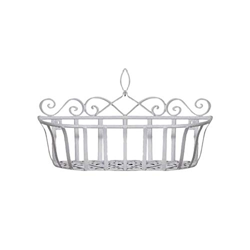 Wall Mounted Openwork Metal Wire Storage Basket Shelves Wall Mounted Holder Hanging Flower Basket