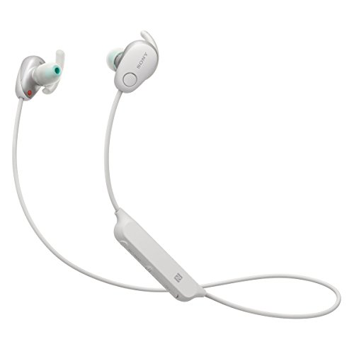 Sony SP600N Wireless Noise Canceling Sports In-Ear Headphones, White (WI-SP600N/W)