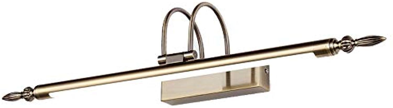 Benfa 9W 56cm Spiegelfront Licht, LED-Vintage Kupfer European Bathroom Mirror Light Adjustable Winkel,9W 56cm