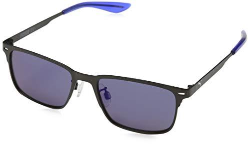 PUMA Unisex-Kinder Junior Sonnenbrille, Ruthenium/Blue, 50