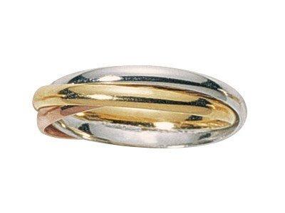 www.diamants-perles.com Unisex Ring LIOBA, 18 Karat (750) Tricolor, 65 (20.7), FB210023-BJR-65