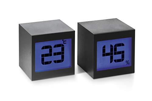 Philippi - Two Magische Uhr - digitales Thermo-Hygrometer Innen Thermometer Hygrometer Temperatur und Luftfeuchtigkeitmessgerät mit Raumklima-Indikator für Raumklimakontrolle Raumluftüberwachung