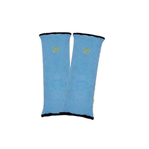 GLCS GLAUCUS 2 Pezzi Copri Cintura di Sicurezza Poggiatesta Auto Bambini e Adulti Spalla Cuscino Seggiolino Protezione Testa Collo Supporto Sedili (Blu)