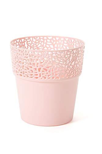 Lamela Übertopf ROSA in versch. Farben und Größen, Farbe:Rosa, Größe:11.5 cm