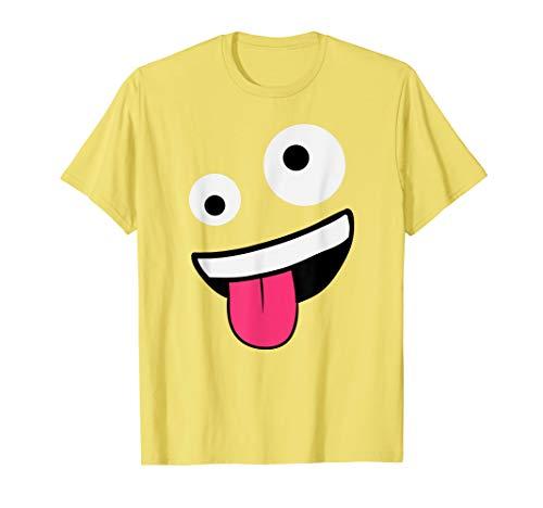 WIld Silly Crazy Eyes Zany Face Emojis Halloween Costume T-Shirt