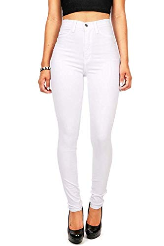 Imily Bela High Waist Jeans Damen Skinny Stretch Regular Fit Basic Jeanshose Straight Hose