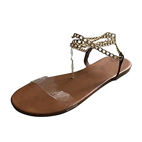 SHZFGUI Damen Sandalen für den Sommer flach