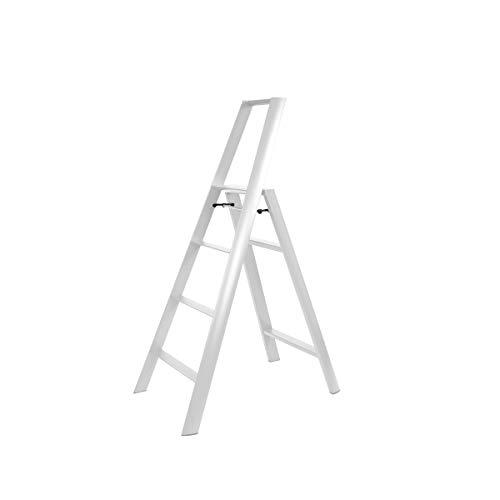 Hasegawa Ladders Lucano Trittleiter, 4, Weiß
