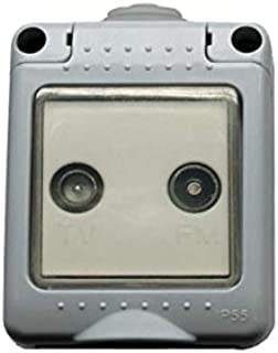 Bf bf-19 - Toma tv-fm 19 final estanca/o ip55 gris bolsa