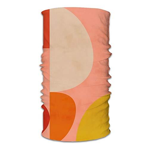 Geometrische Form Mitte des Jahrhunderts Bio Rouge Curry Teal Schmusetuch Mode Vielfalt Kopftuch Staubdicht Winddicht Halswärmer Halstücher Weiche Bandanas für Männer Frauen