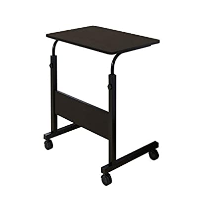 Goldweather Lift Computer Table, Folding Laptop Standing Desk for Small Space Portable Lazy Writing Table Home Office Desk (Black, 1Pcs)