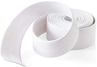 3.2mx3.8cmうどんこ病耐性キッチンシーリングストリップ防水バスウォールステッカー(ホワイト)