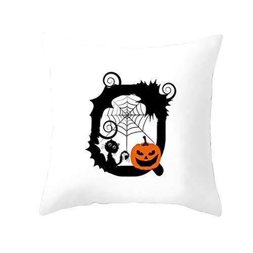 Preisvergleich Produktbild LSAltd Halloween Mode Schöne Brief Drucken Dekokissen Abdeckung Komfortable Klassische Kürbis Kissenbezüge Dekorative Sofa Kissenbezug