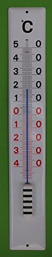 Emaille Thermometer Hauswandthermometer 80 cm