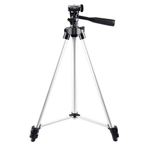 Trípode Ligero Completo, Andoer Trípode para cámara de 150 cm Ajustable Tres Secciones con Tornillo de 1 4  para Teléfono Inteligente Youtube Compatible con videocámara DSLR SLR
