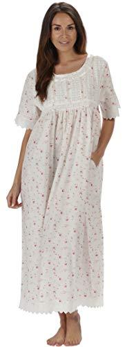 The 1 for U Nightgown 100% Cotton Sizes XS-3XL Helena (XXXL, Vintage Rose)