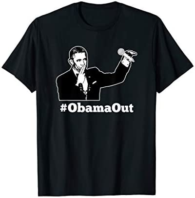Obama Out ObamaOut Mic Drop Funny T Shirt product image