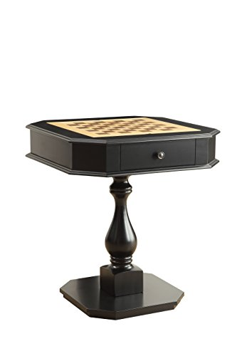 ACME Furniture Acme 82846 Bishop Game Table, Black, One Size