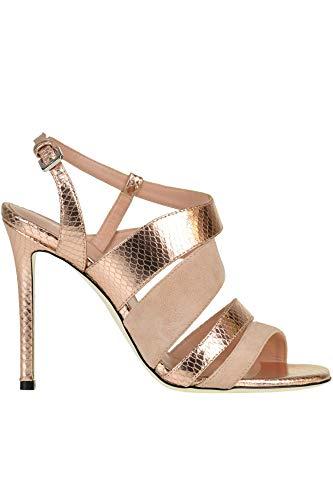 Pollini Luxury Fashion Damen MCGLCAT0000B7057E Rosa Leder Sandalen | Jahreszeit Outlet