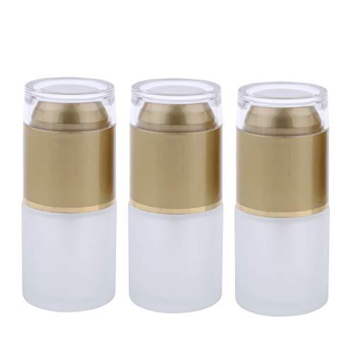 Baoblaze 3pcs Flacons Parfum Vaporisateur Vide Etuis Bouteilles à pompe pour lotion - 01 Doré