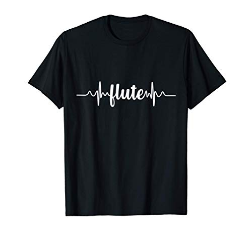 Flute Heartbeat ECG | Flutist/Flautist | Woodwind Instrument Camiseta