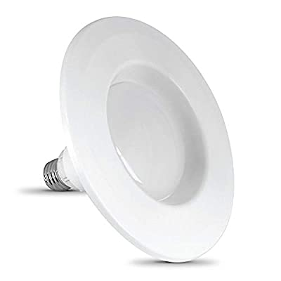Feit Electric LEDR4/950CA/MED/2 45W Equivalent Adjustable Neck Instatrim Retrofit Kit Recessed LED Flood Light, 4 Inch 45 Watt, 5000K Daylight