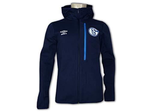 Umbro FC Schalke 04 Kapuzenjacke S04 Sport Freizeit Hoodie Jacke Knappen Top, Größe:S
