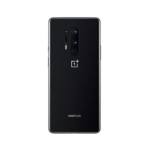 "OnePlus 8 Pro Smartphone 6.78"" 3D Fluid AMOLED Display 120Hz, 8 GB RAM + 128GB Memoria, Fotocamera Quadrupla, Ricarica Wireless Veloce, Dual Sim, 5G, Nero (Onyx Black)"