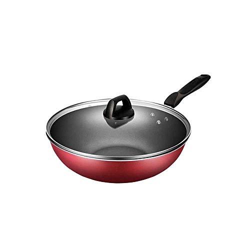 Cooks Standard Flat Bottom with Couvercle Poêle à Sauter Wok Anodisée Dur Antiadhésive