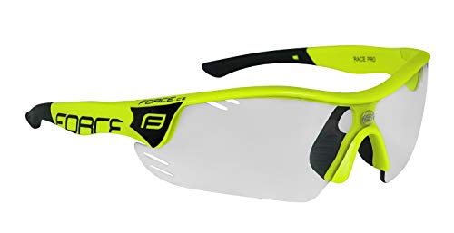 Force - Occhiali da ciclismo professionali Race PRO, occhiali da ciclismo (neon, nero fotocromatico)